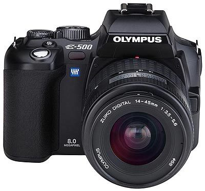 Olympus E-system E-500 Double Zoom Kit + Lowepro brašna